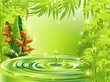 Natura Tropicale Acqua e Bamboo-Green Tropical Nature