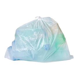 garbage bag with empty bottle trash waste