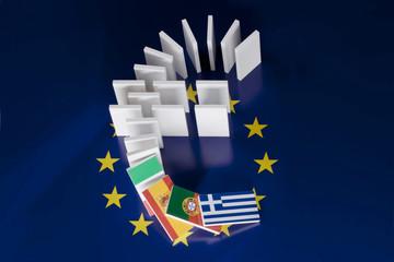 Schuldenkrise in Euroländern führt zu Dominoeffekt an den Börsen
