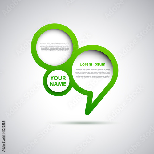 Cover speech in green # Vector