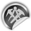 Handwerkszeichen- Dachdecker- Sticker