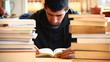 Boy studiyng