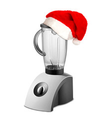 Food Blender with christmas hat