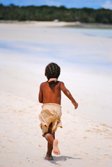Child running on the beach - Africa - Madagascar - Nosy Be