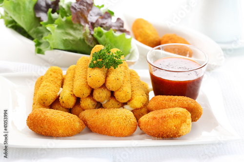 Fried cheese sticks