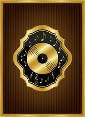 Altın çerçeveli motifli plak ikonu