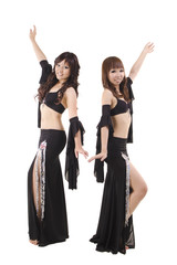 Duet belly dancer