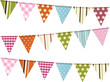 bunting background on white - 41056143