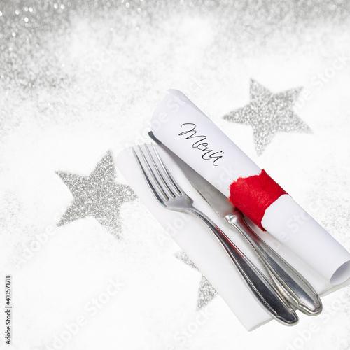 Weihnachtsmenü - Speisekarte mit Textfläche