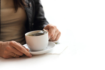 Woman brew tea