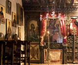 Inside of Panagia Mauriotissa Church at Kastoria Greece