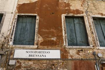 Venezia, indicazione stradale