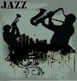 Fototapety Jazz music background