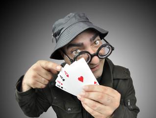 Buena mano de póker.
