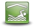 "Green 3D Effect Icon ""Indoor Swimming"""