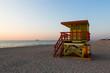 Poste de garde sur la plage de South Beach à Miami en Floride