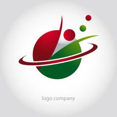logo laboratoire, logo molécule, logo atome