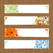 Four seasons - spring, summer, autumn, winter. Banners