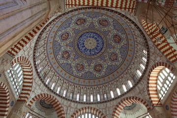 The Interior of Selimiye Mosque, Edirne.