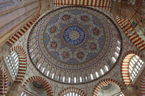 The Interior of Selimiye Mosque, Edirne.