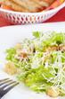 The Caesar salad prepared on the classical recipe
