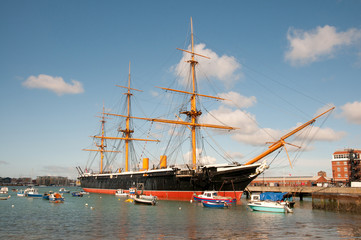 HMS Warrior, moored in Portsmouth,England