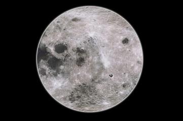 Full moon closeup