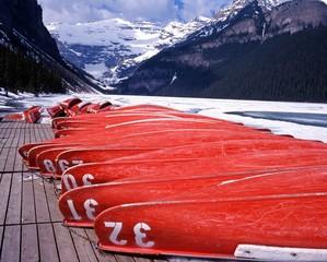 Upturned boats, Lake Louise, Canada © Arena Photo UK