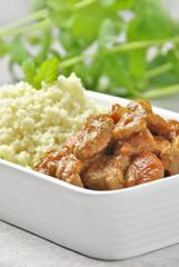 couscous e carne di manzo