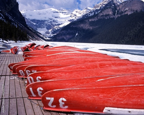 Upturned boats, Lake Louise, Canada © Arena Photo UK