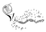 Notes and french horn