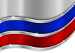 Russia Metal Flag