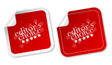 Editors choice stickers