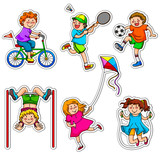 Fototapety active kids at play