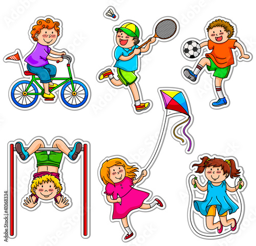 active kids at play