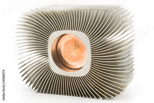 Old aluminum cpu cooler heat sink
