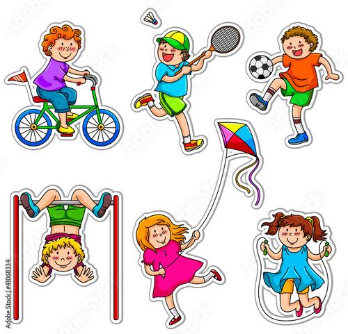 active kids at play