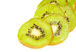 kiwi fruit sliced isotated on a white background