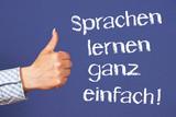 Fototapety Sprachen lernen ganz einfach !