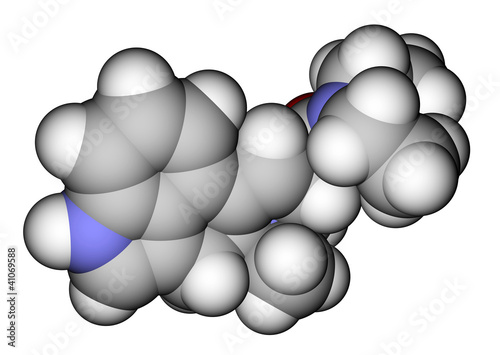 LSD space filling molecular model