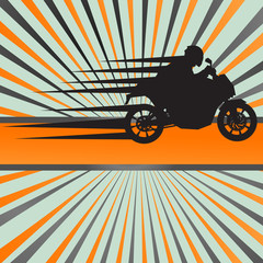 Motorcycle burst vector background