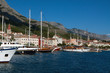 Town Makarska - resort in Croatia. Port. Yachts.