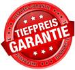 """Button Banner """"Tiefpreis-Garantie"""" rot"""