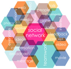 social network concept, vector illustration