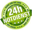 """Button Banner """"24h Notdienst"""" grün"""