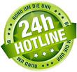 """Button Banner """"24h Hotline"""" grün"""