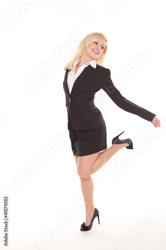 Woman dancing and giving thumbs up