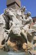 Fontaine des Quatre-Fleuves, place Navone à Rome - Italie