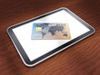 Generic tablet and credit card ,safe mobile shopping