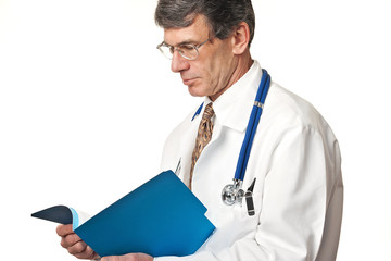 Doctor Reading Patient Chart